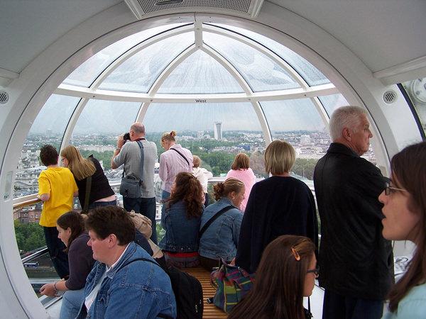 London Eye Kabine von Innen