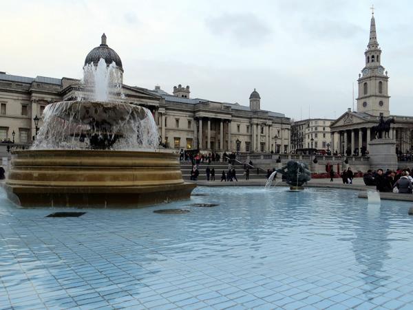 Trafalgar Square Brunnen